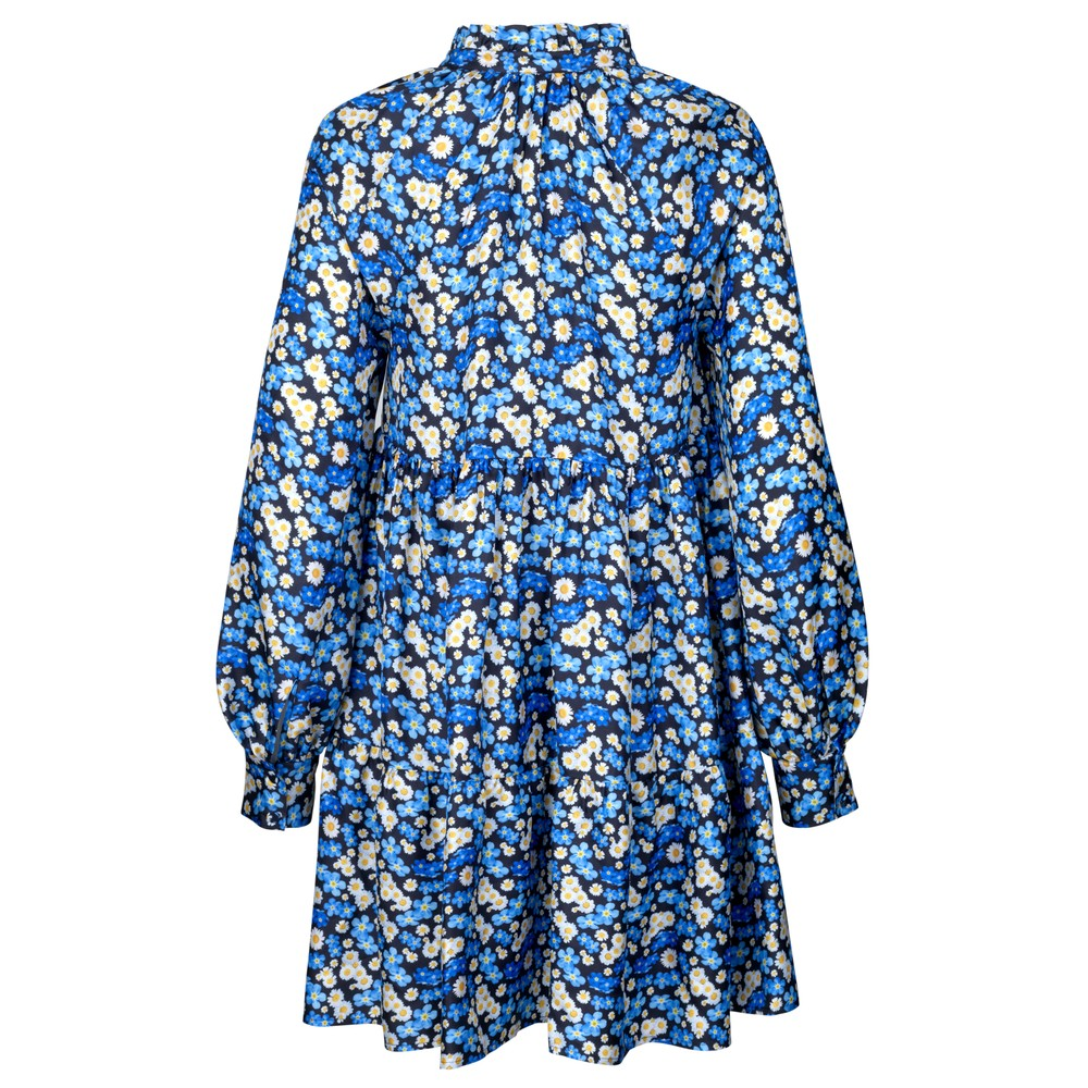Stine Goya Jasmine Silk Floral Dress-Slip Forget Me Not