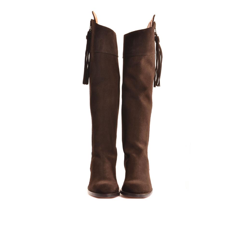 Fairfax & Favor The Heeled Regina Suede Boot Chocolate