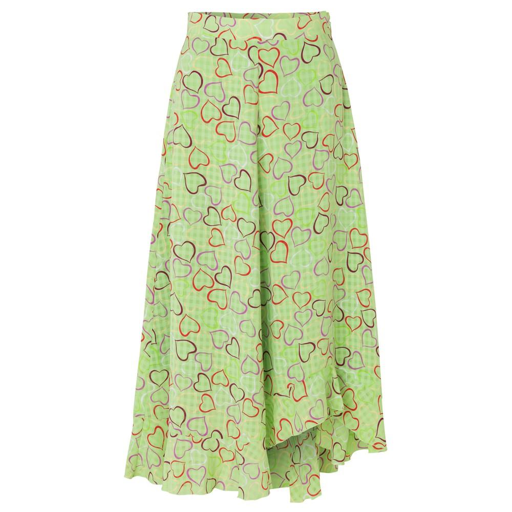 Stine Goya Marigold Hearts Skirt Green/Multi