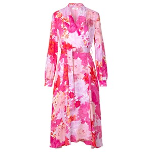 Stine Goya Reflection Rose Silk Wrap Drs Rosegarden Pink