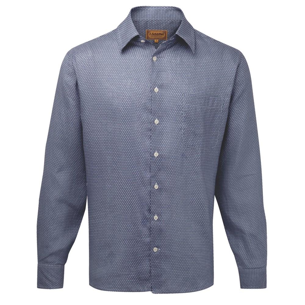 Schoffel Country Thornham Shirt Navy Dot