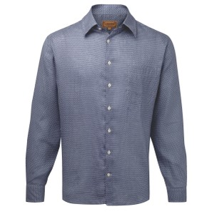 Schoffel Country Thornham Shirt in Navy Dot