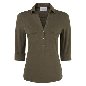 Marina Jersey Shirt Dark Olive