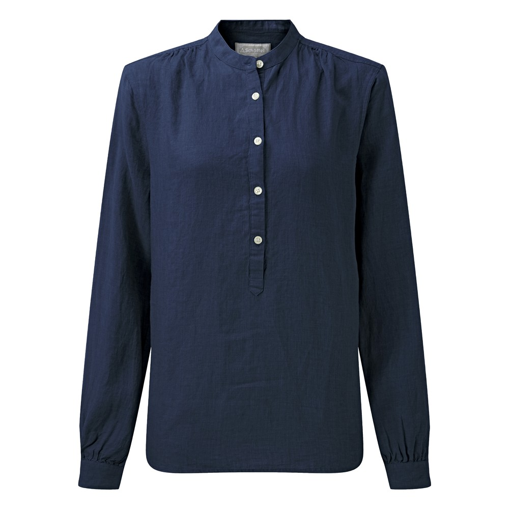 Schoffel Country Athena Linen Shirt Navy