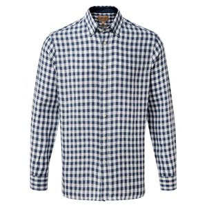 Schoffel Country Sandbanks Linen  Shirt in Navy Check