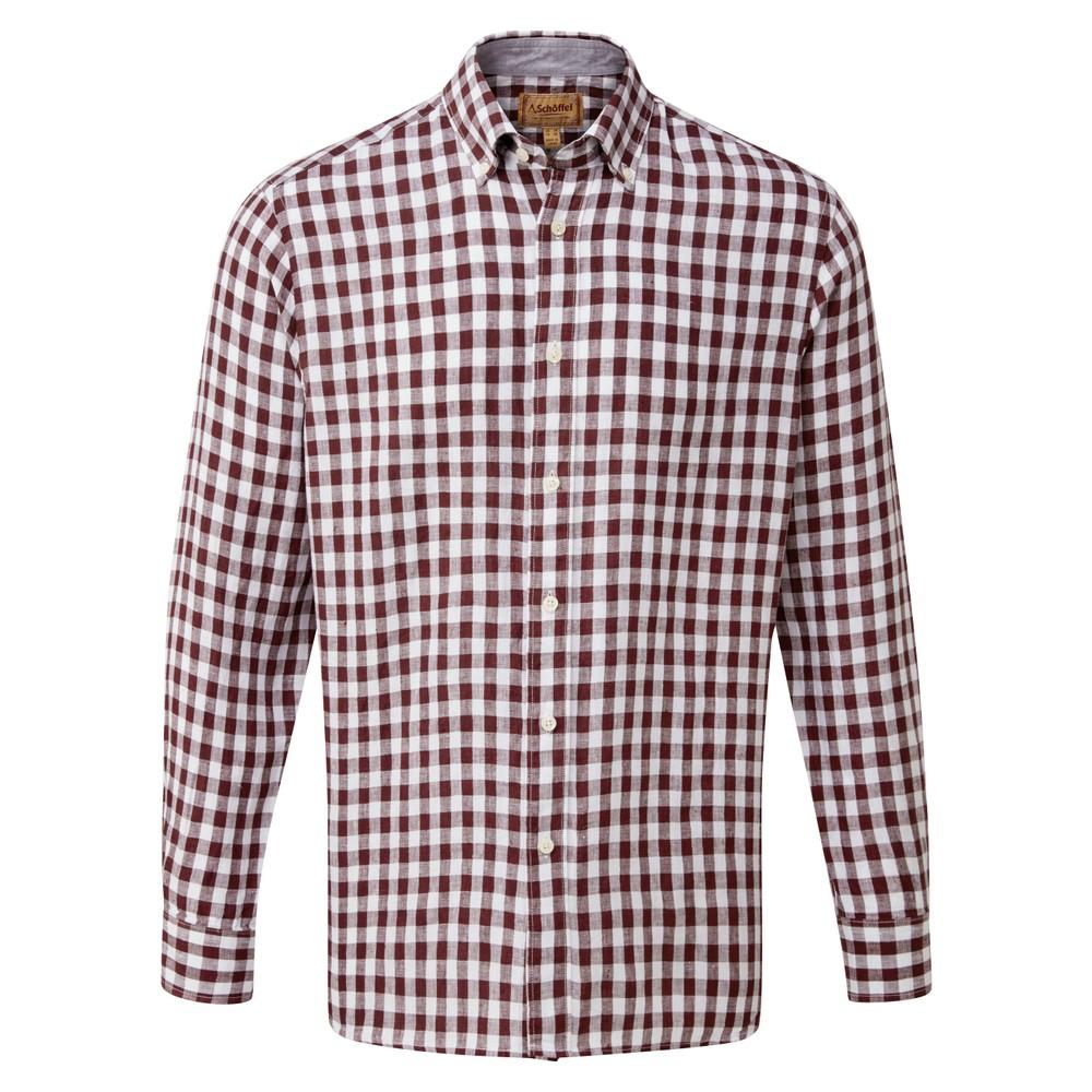 Schoffel Country Sandbanks Linen  Shirt Fig Check