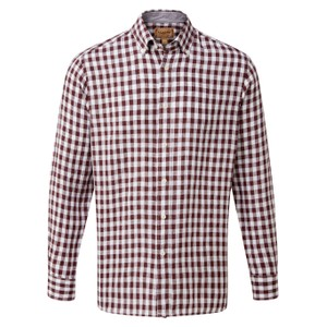 Sandbanks Linen  Shirt Fig Check