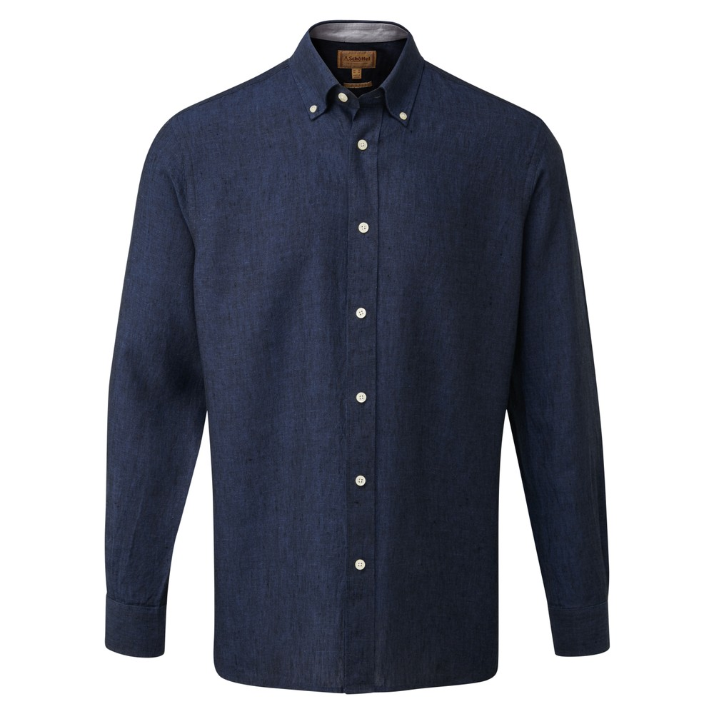 Schoffel Country Sandbanks Linen  Shirt Navy