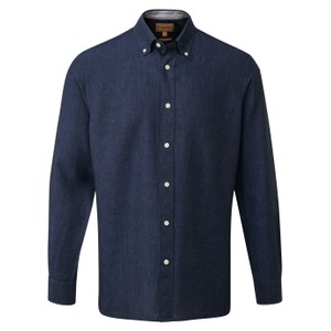 Schoffel Country Sandbanks Linen  Shirt in Navy