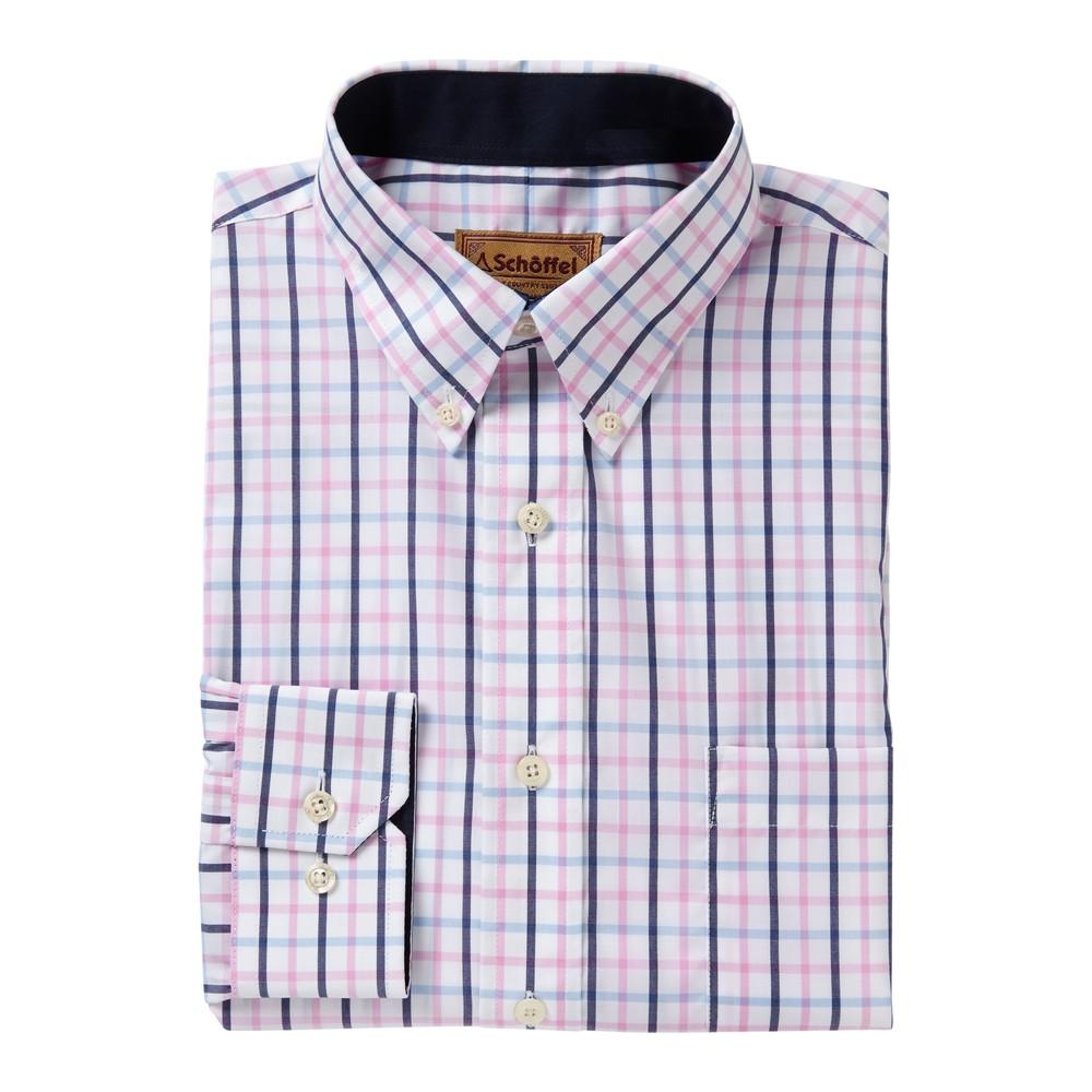 Schoffel Country Holkham Shirt Marine/Cornflower/Pink