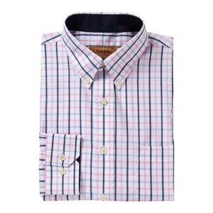 Schoffel Country Holkham Shirt in Marine/Cornflower/Pink