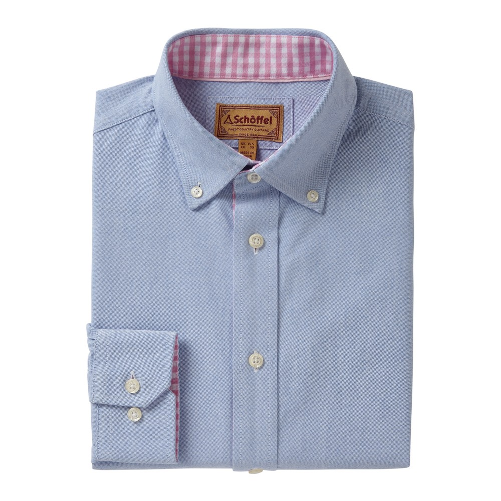 Schoffel Country Soft Oxford Shirt Pale Blue