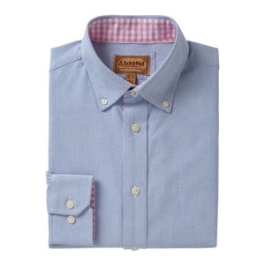 Schoffel Country Soft Oxford Shirt in Pale Blue