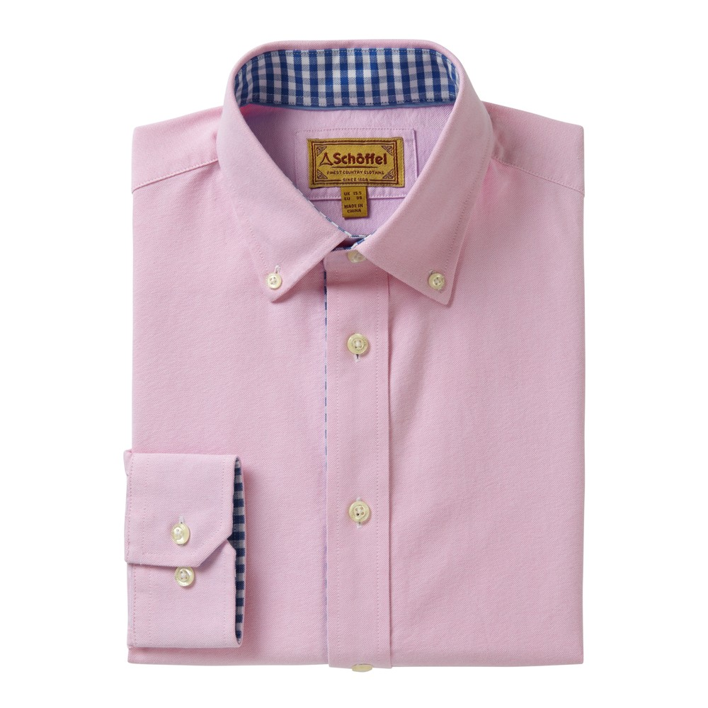 Schoffel Country Soft Oxford Shirt Pale Pink
