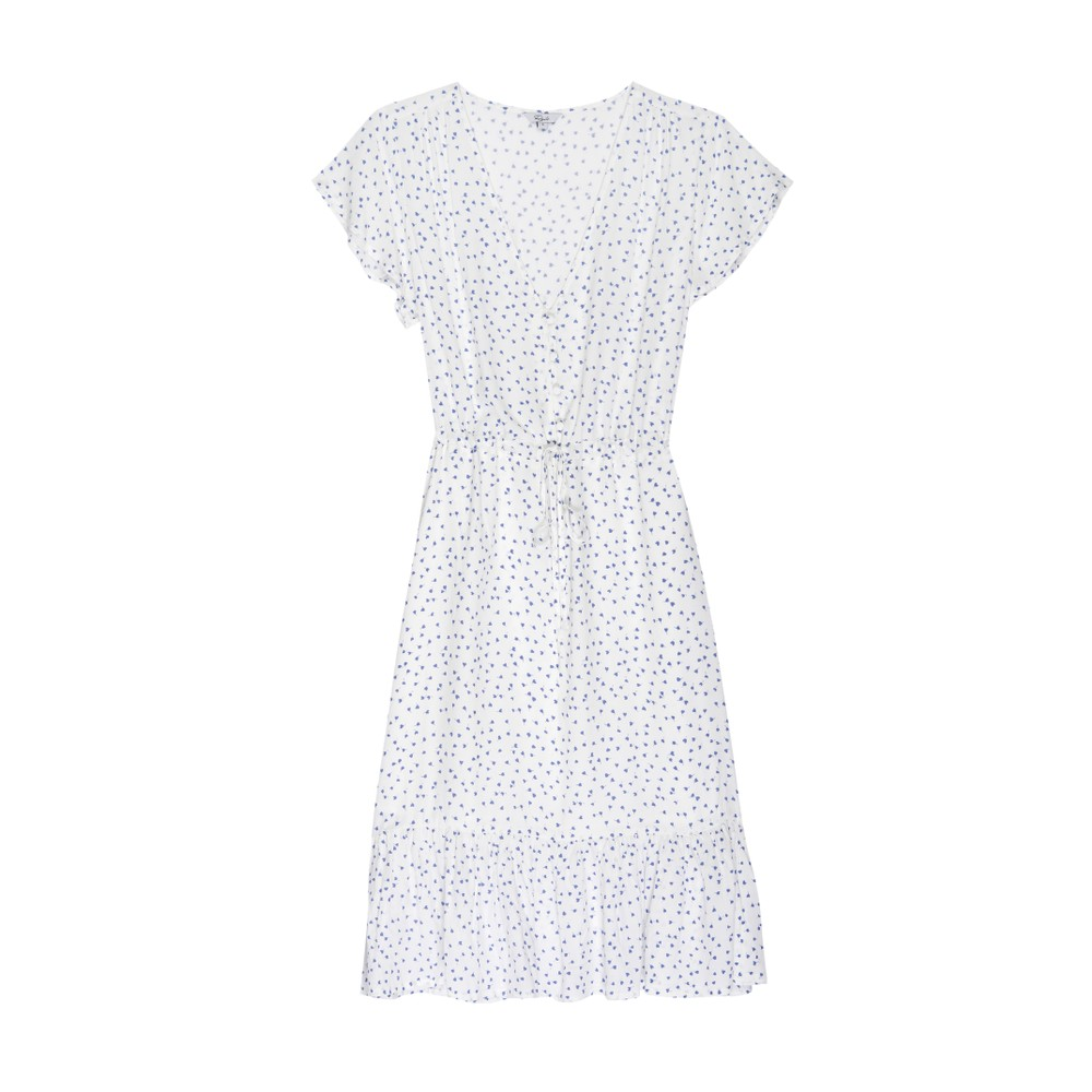 Rails Kiki S/S Tie Waist Dress White Wisteria