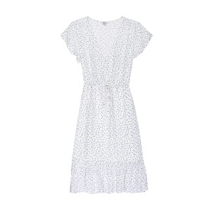 Kiki S/S Tie Waist Dress White Wisteria