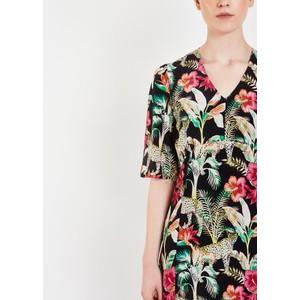 Pyrus Beatrice Long Floral V/N Dress Leopard