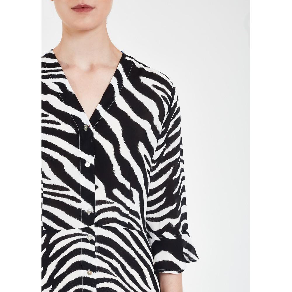 Pyrus Adele Zebra Print Tired Dress Black/Blue
