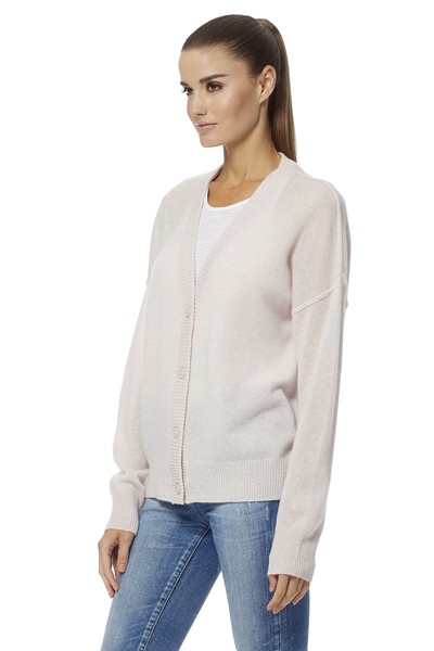360 Sweater Kristen V Neck Cardigan Tutu Pink