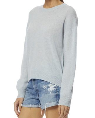 360 Sweater Brenna Dip Hem Jumper Seafoam