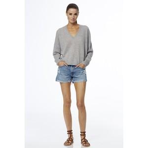 360 Sweater Marina V/N Short Jumper Heather Grey