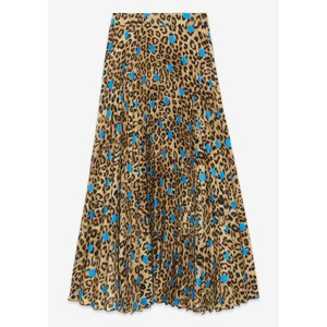 Leopard Print Skirt With Spot Leopard