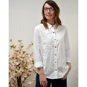 Embellished Stars Shirt White