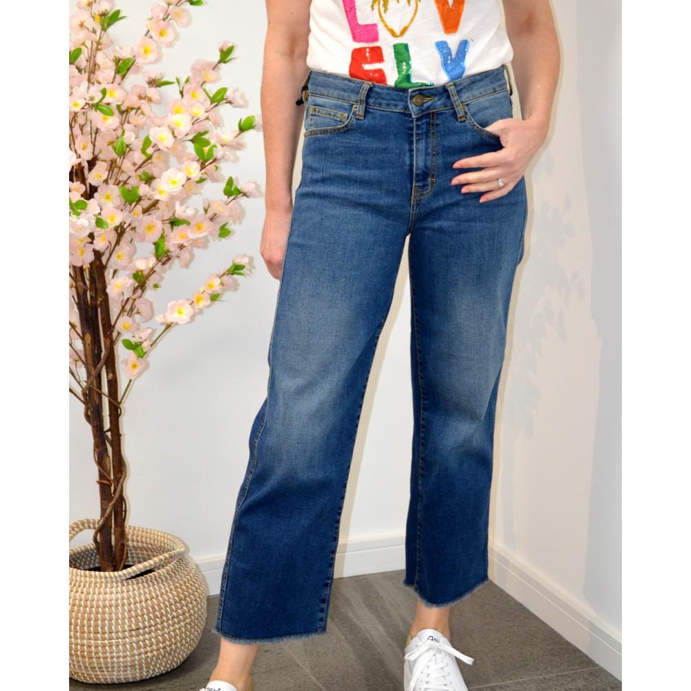 Five Lena Droit Jeans Dark Blue