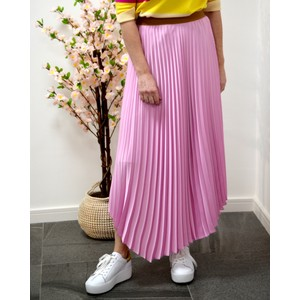Kiwi Pleat Skirt Deep Rose