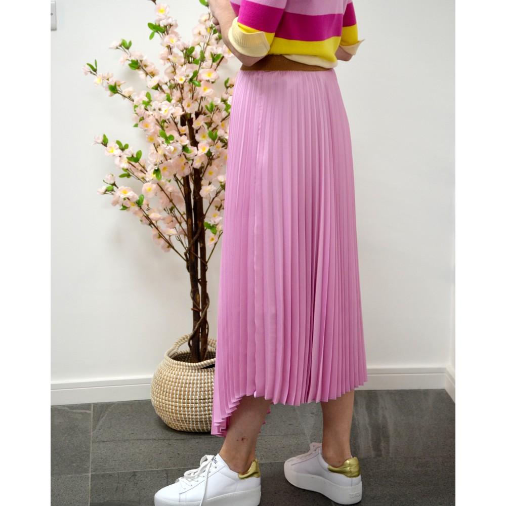 Marella Kiwi Pleat Skirt Deep Rose