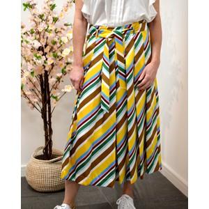Aidin Stripe Culottes Yellow/Multi