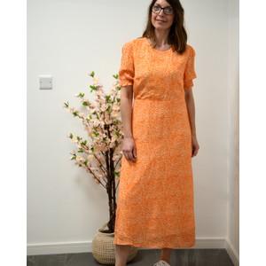 Primrose Park Betty Leopard Print Dress Orange