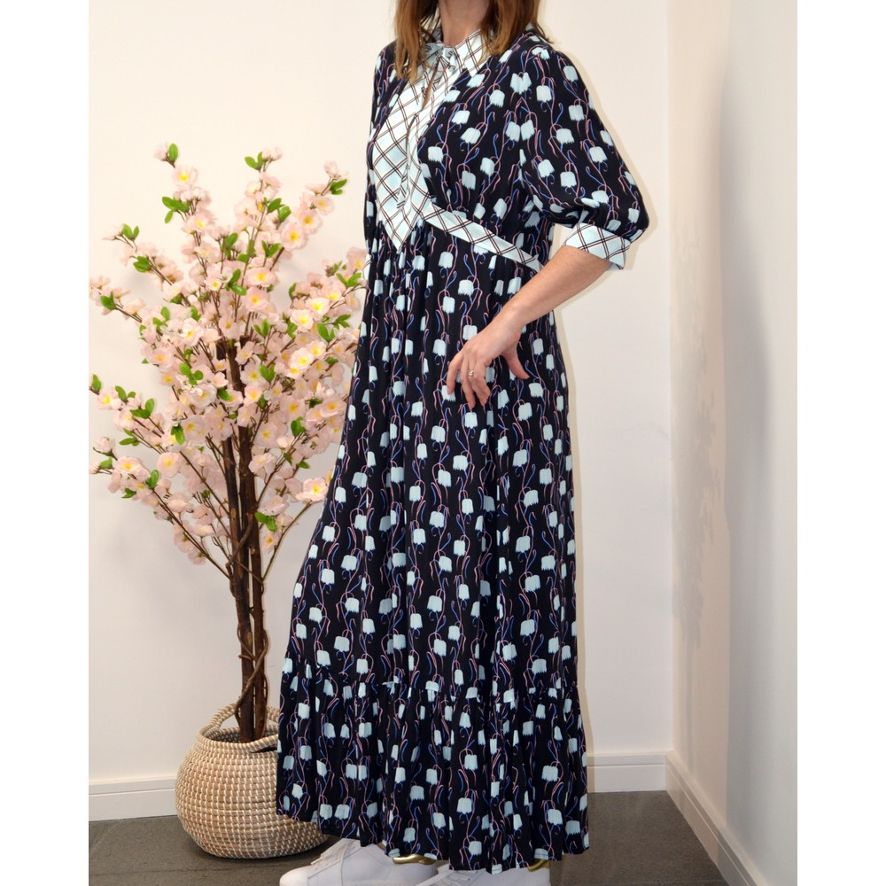 Primrose Park Loopy Lou Tulip Dress Black/Blue