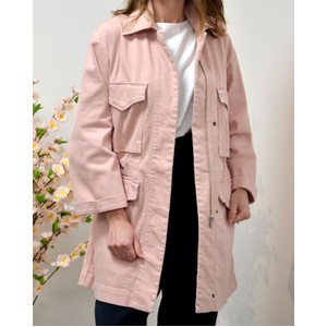 4 Pocket Zip Coat Salmon