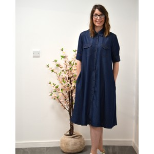 SS A Line Denim Dress Denim