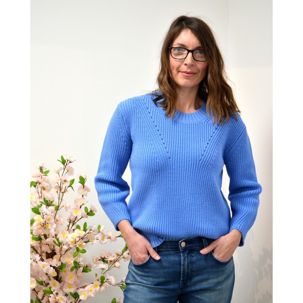 Paul Smith Womens L/S Knitted Jumper Blue
