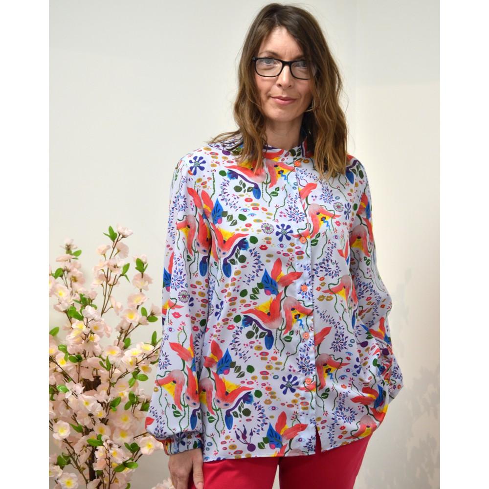 Paul Smith Womens Earthling Print Shirt Multi