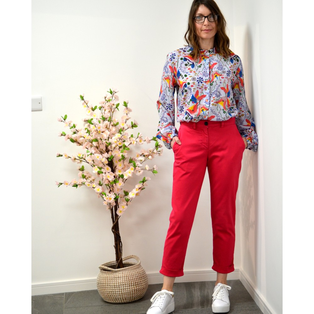 Paul Smith Womens Boyfriend Fit Trousers Blood Pink