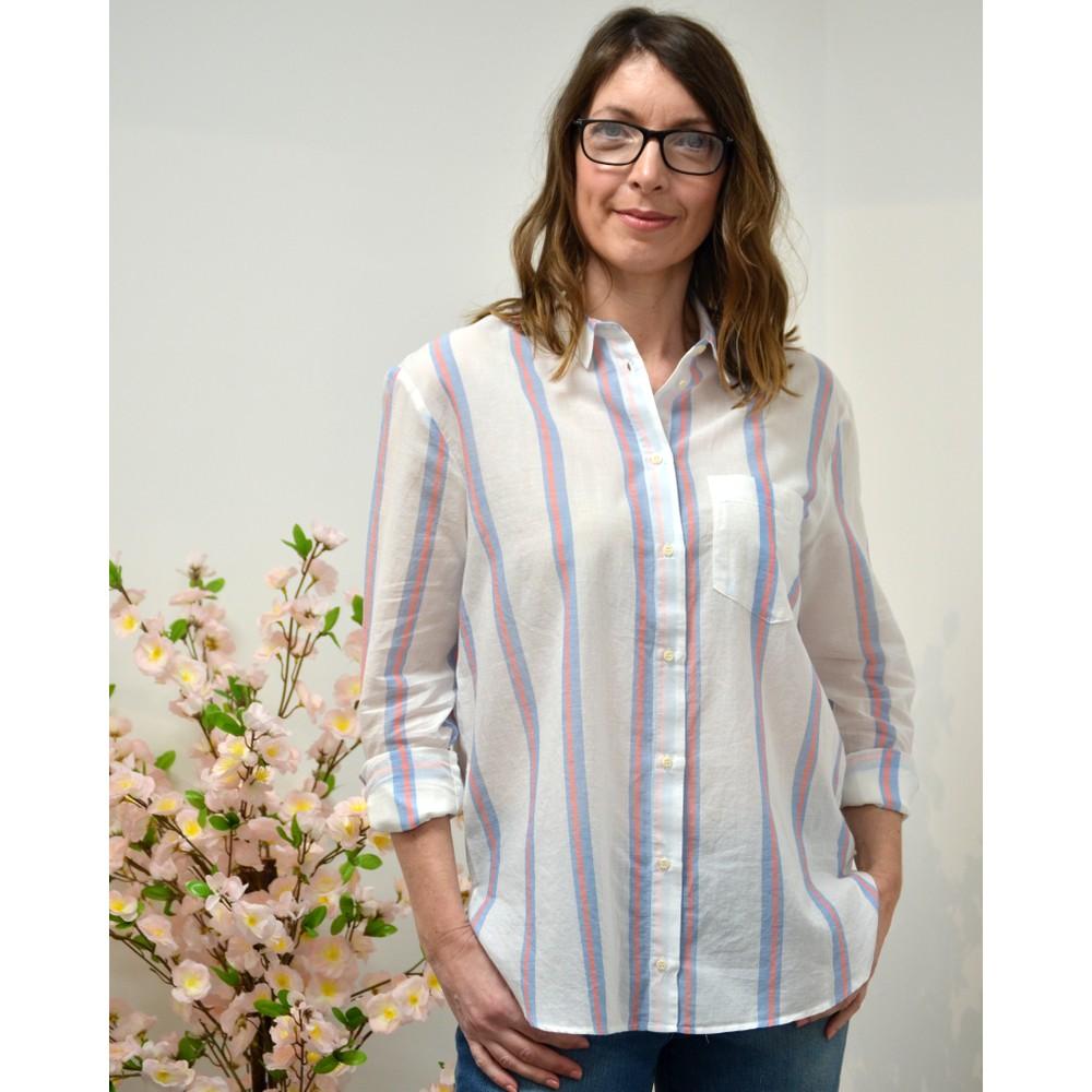 Sacrecoeur Anita Ritz Stripe Shirt White/Blue/Pink