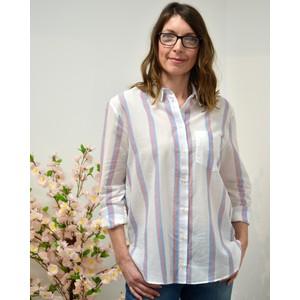 Anita Ritz Stripe Shirt White/Blue/Pink