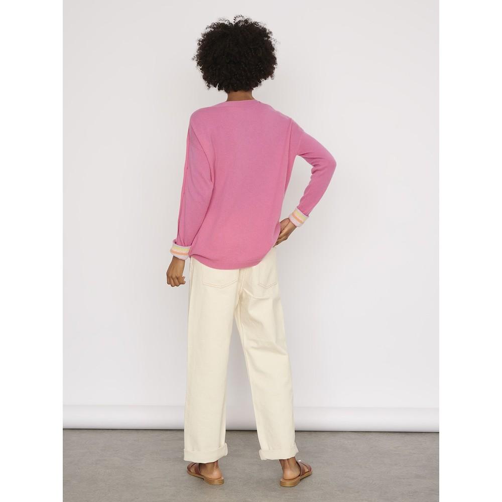 Cocoa Cashmere Luna Button Detail Jumper 1 Pink Lemonade