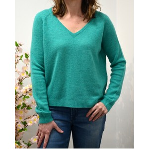 Loose Knit Vee Nk Jumper Emerald