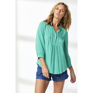 Delphine Stripry Triangle Top Green