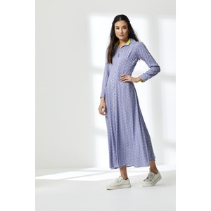 Lucinda Stripey Triangle Maxi Drs Blue