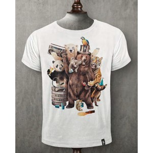 Party Animals T Shirt Vintage White