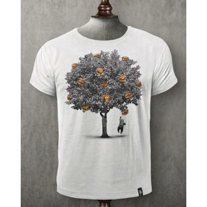 Burger Tree T Shirt Vintage White