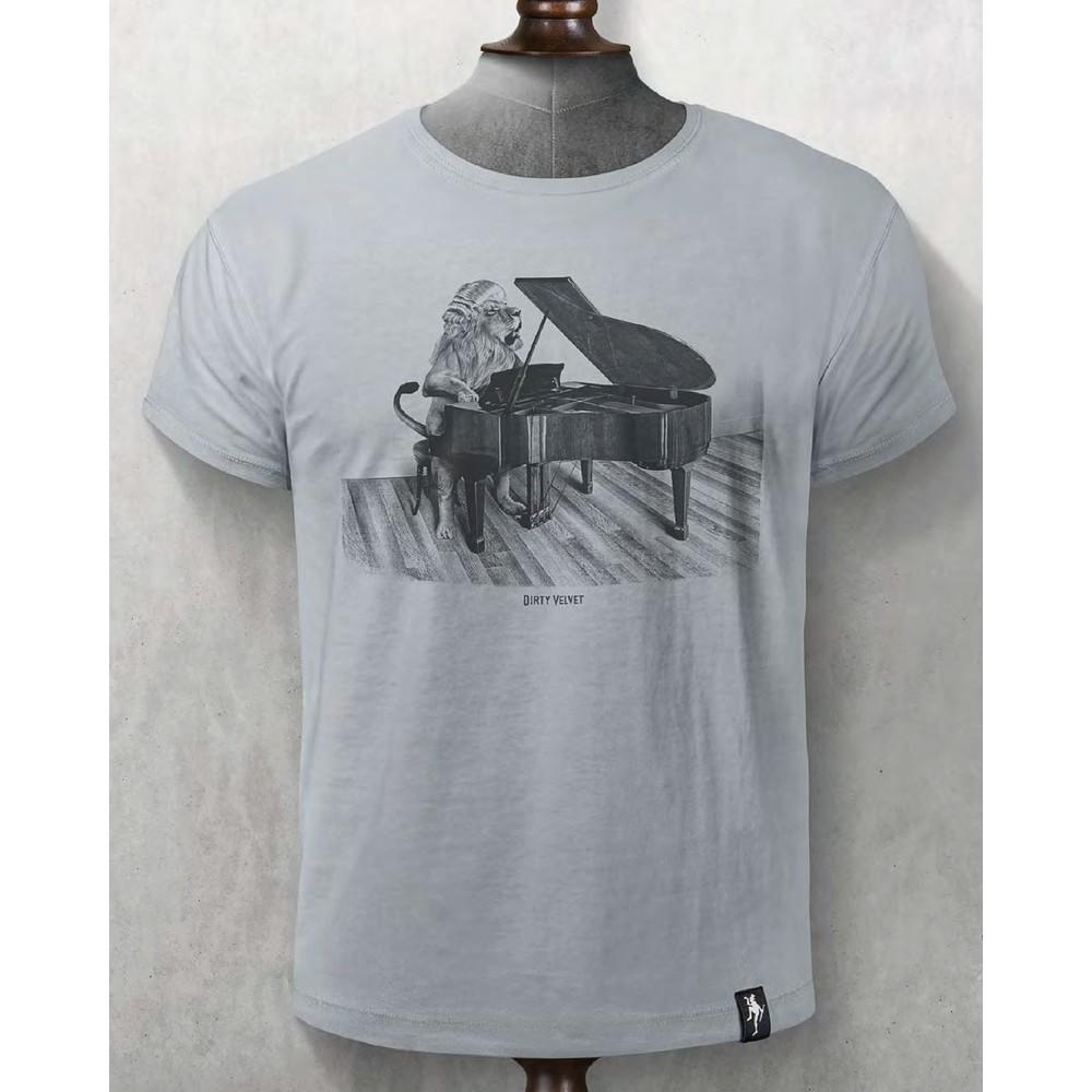 Dirty Velvet Concerto Cat T Shirt Vintage White