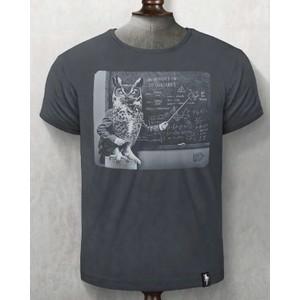Owlgebra T Shirt Charcoal