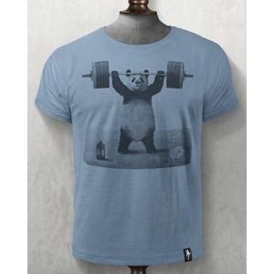 Panda Power T Shirt Noble Blue
