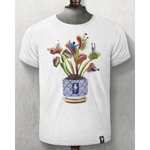 Plant Food T Shirt Vintage White